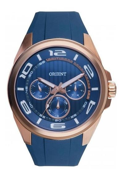 Relógio Masculino Orient Multifunção Azul Mrspm001 Silicone