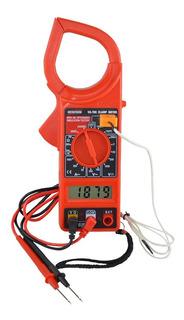Alicate Amperímetro Com Função Temperatura Va-760 Fornecido C/ Estojo P/ Transporte + Bat. 9v + Ponta De Prova + Sensor