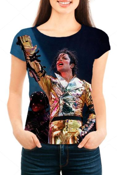Camiseta Babylook Feminina Michael Jackson