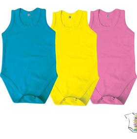 Body Bebe Regata - Kit 4 Peças - Tam.2 A 4 Anos