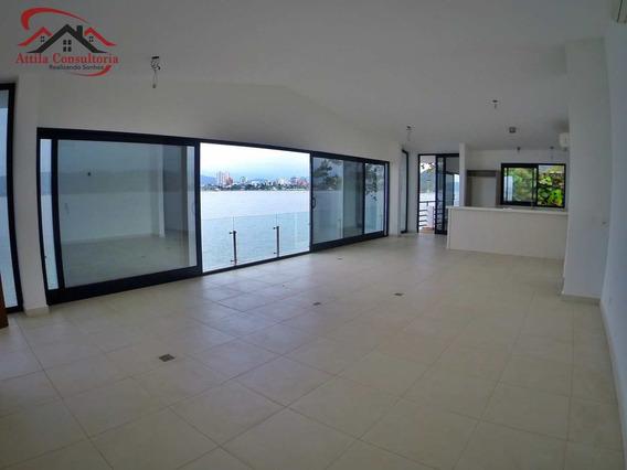 Casa 3 Suítes, Frente Mar, Península, Enseada - V1055