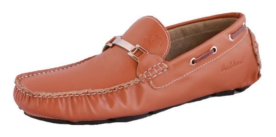 Zapatos Driver Mocasines Peskdores Miel Hebilla Mh00103