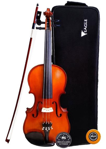 Violino Eagle Envelhecido Ve244 +case+breu+arco