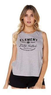 Musculosa Element Tested Mujer Gris/negro