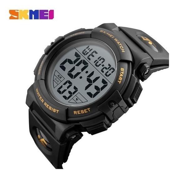 Relógio Masculino Digital 1258 Dourado Preto Prova D Água