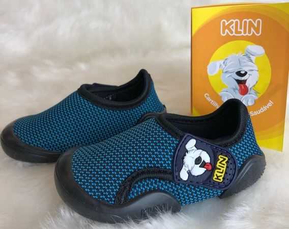 Sapato Papete Infantil New Confort Klin Menino - 16400