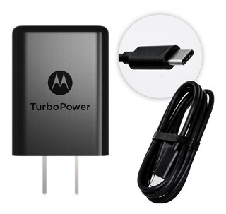 Cargador Motorola Moto Z2 Play G6 Plus Tipo C Turbopower 15w