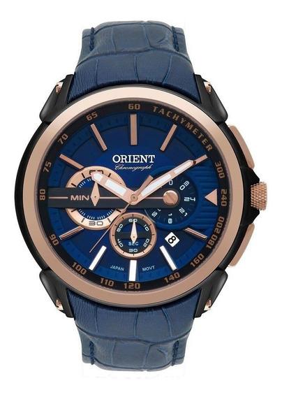 Relógio Masculino Orient Mtscc029 D1dx Cronógrafo Preto