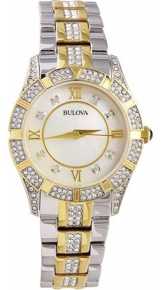 Exclusivo Reloj Mujer Bulova Crystals Original
