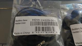 Blackberry Hdw-24529-001 3.5mm Fone Ouvido Original Oem Novo