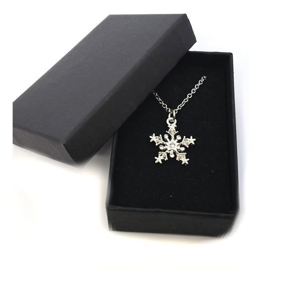 Collar Copo De Nieve Joyeria Fina Am33011