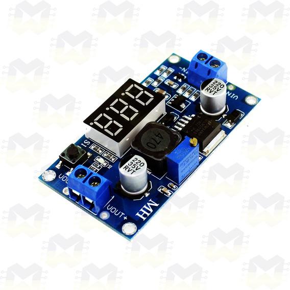 Regulador De Tensão Dc Ajustável Lm2596 C/ Display Arduino