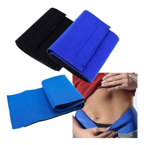 Faja Reductora Unisex Elimina Grasa Cintura Y Abdomen Azul