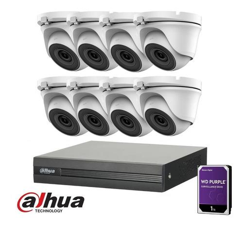 Imagen 1 de 10 de Kit Seguridad Dahua Dvr 8 Camaras Exteriores 1080p Disco 1tb