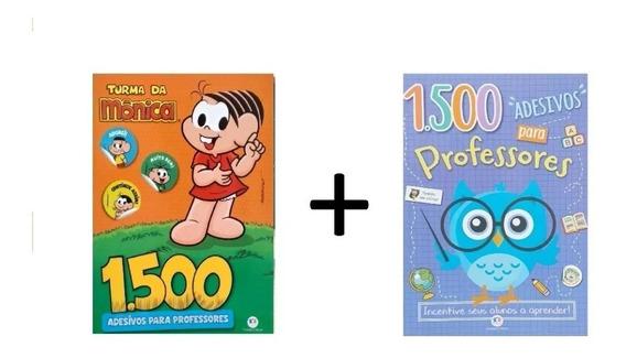 Kit Com 2 Livros 1500 - Adesivos Para Professores Promoção