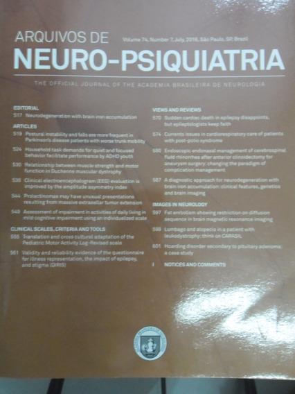 Revista - Arquivos De Neuro-psiquiatria - V.74 N°7 Jul 2016