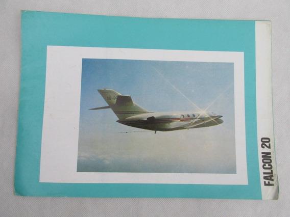 Antiguo Catalogo Avion Falcon 20 1976 Especificacion Tec #l
