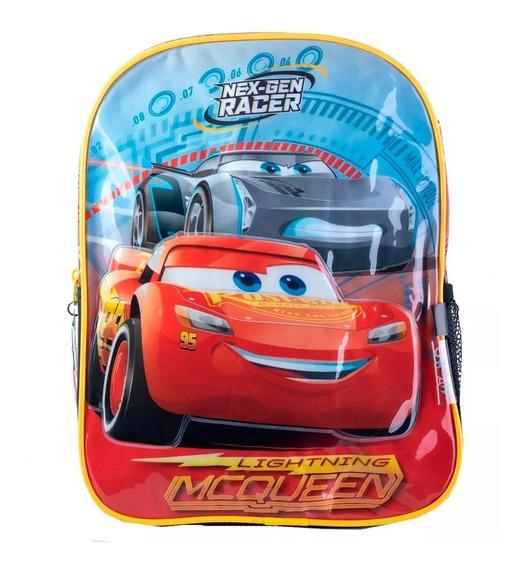 Mochila Cars Rayo Mc Queen Disney Jardín 13´ Linea Premium