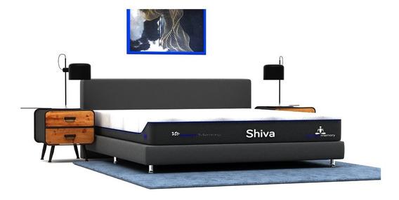 Colchón Queen Size + Box Shiva Memory Foam Gel Envío Gratis