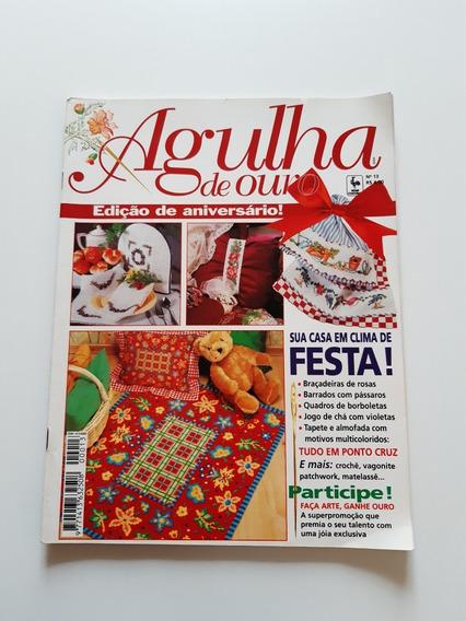 Revista Agulha De Ouro Ponto Cruz Jogo De Chá Tapete D707