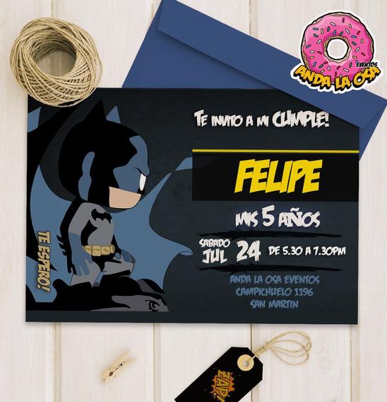 Tarjetas Invitaciones Cumpleaños - Batman - Funko X10uni