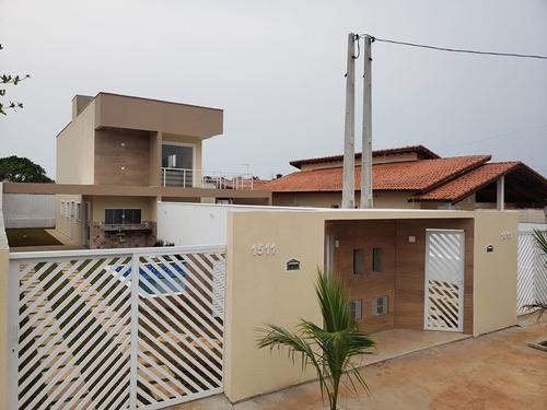 Imagem 1 de 14 de 07* Casa Nova Com 03 Dormitórios Sendo 1 Suíte Lado Praia