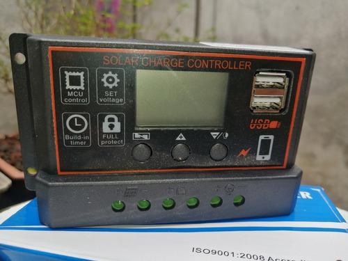 Controlador  De Carga Solar  50v Max 30 Amp Max