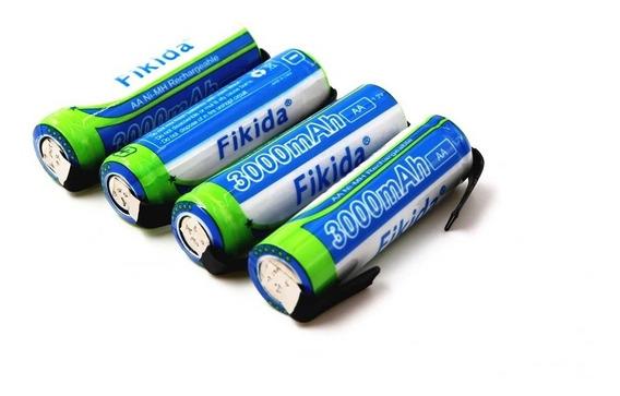 Kit 4 Baterias1.2v 3000mah Nimh 14430 Com Pinos De Solda