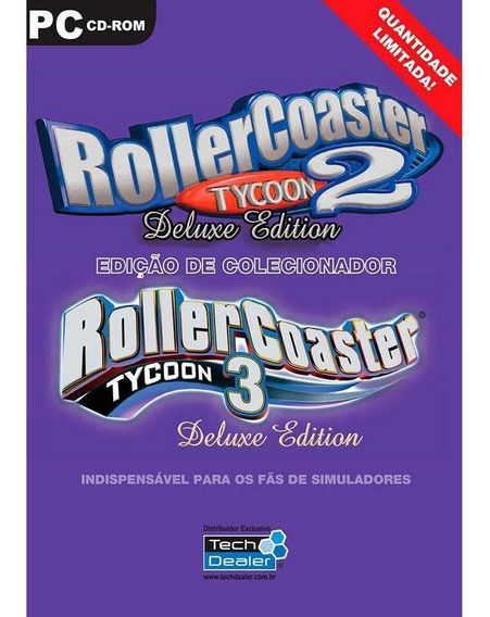 Rollercoaster Tycoon 2 E 3 + Expansões - Original Lacrado