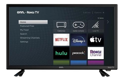 Imagen 1 de 4 de Pantalla Onn. 24  100012590 Class 720p Hd Led Roku Smart Tv
