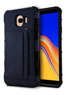 Funda Samsung A20 A30 J4 Core J4 Plus Cartera Tela Tip Jeans