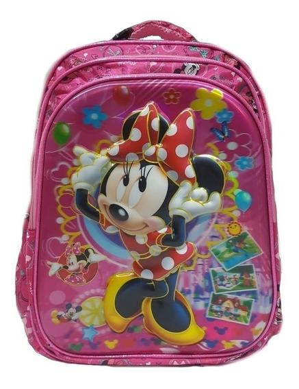 Mochila Importada Escolar 3d Infantil Personagem Minnie