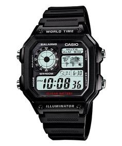 Relogio Casio Ae-1200 Wh 1a Horario Mundial 5 Alarmes Wr100m