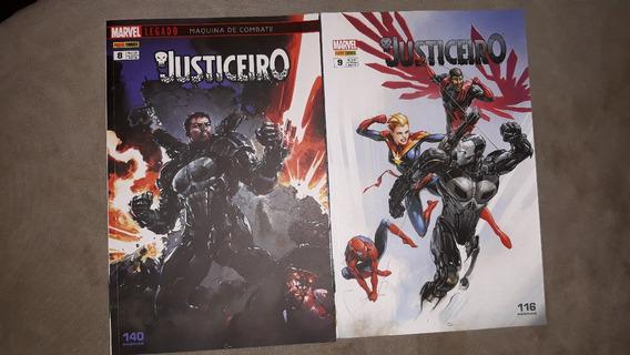 Revista Quadrinhos Lote Justiceiro Maquina Combate Encardena
