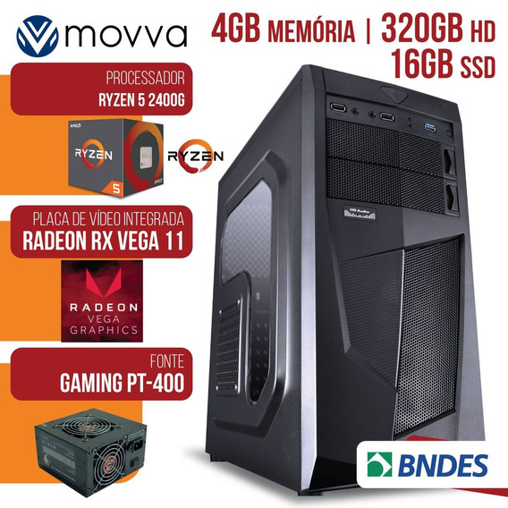 Computador Amd Ryzen 5 2400g 3.6ghz Memoria 4gb Hd 320 Gb