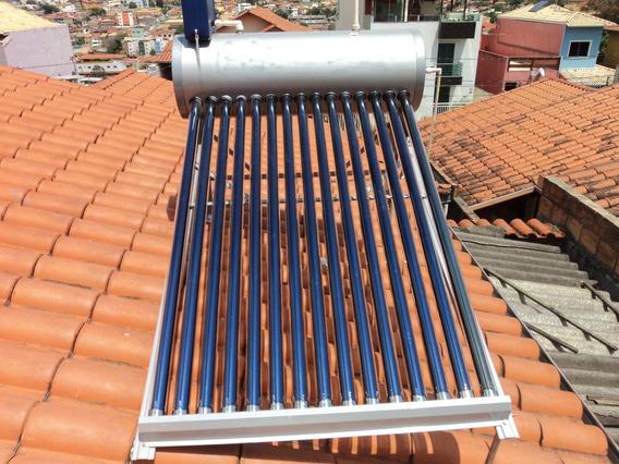 Aquecedor Solar 20 Tubos Vacuo Boiler Acoplado 250lts
