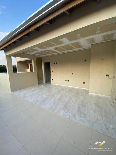 Cobertura Com 2 Dormitórios À Venda, 108 M² Por R$ 390.000,00 - Vila Alzira - Santo André/sp - Co0709