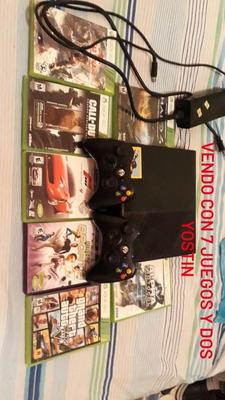 Xbox 360 Con 7 Juegos !!!! Y Todos Sus Cables