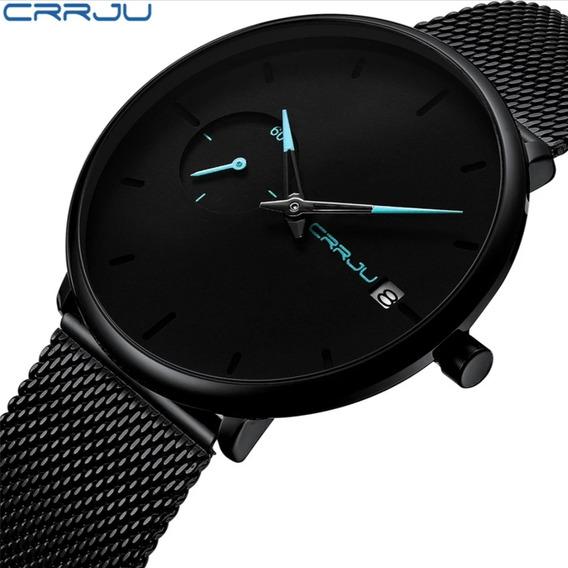 Relógio Masculino Crrju 2258 Exportivo Luxo Pronta Entrega