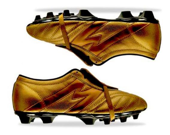 Zapato Futbol Manriquez Mithos Plus Sx Oro / Negro