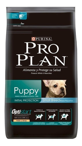 Imagen 1 de 1 de Alimento Pro Plan OptiStart Puppy para perro cachorro de raza pequeña sabor pollo/arroz en bolsa de 7.5kg