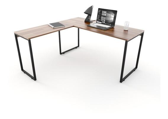Mesa Para Escritório Diretor Estilo Industrial 150x150cm