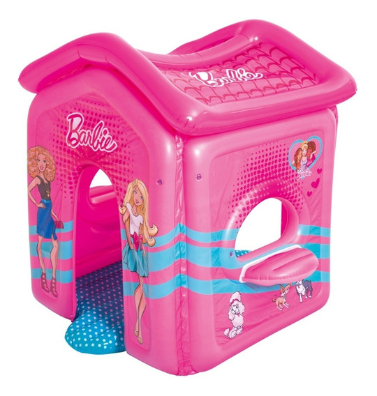 Casita Inflable Malibu Barbie 1.50m X 1.35m X 1.42m - Bestwa
