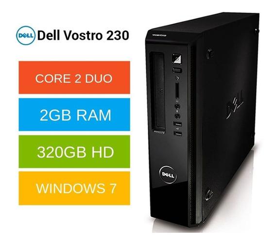 Cpu Dell Core 2 Duo 2gb 320gb Win7 Até 12x Sem Juros