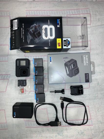 Gopro 8 Black + 8baterias + Cartao 256gb + Vários Acessórios