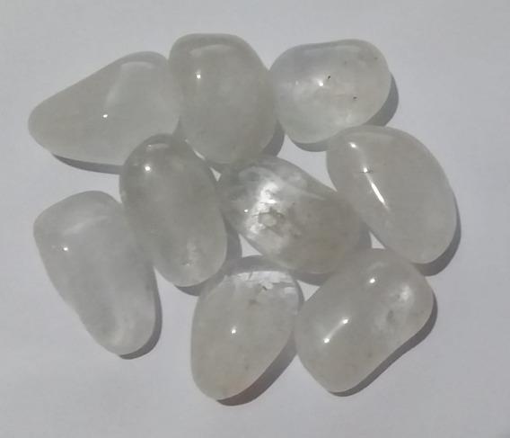100g De Pedra Rolada De Quartzo Transparente Natural