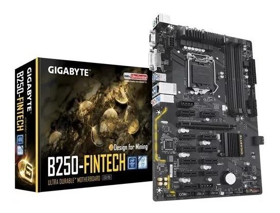 Placa Mãe Gigabyte Ga-b250-fintech Para Mineração 12pci