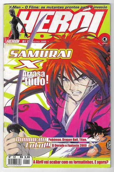 Revista Herói 2000 12 Samurai X Rurouni Kenshin Frete Inclus