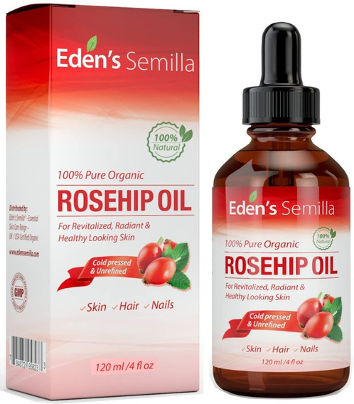 Aceite De Rosa Mosqueta 100% Puro - 4 Oz - Orgánico Cert.
