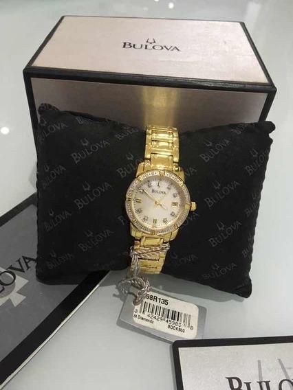 Relógio Feminino Bulova 24 Diamantes Modelo 98r135